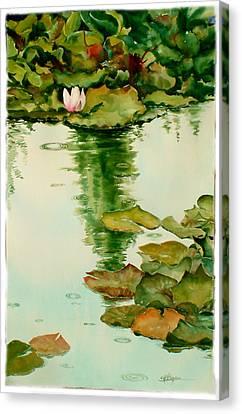 It Also Rains In Monet's Garden Canvas Print