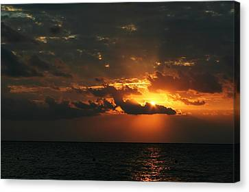 Tropical Sunset Canvas Print - It Burns by Laurie Search