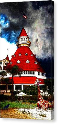 It Happened One Night At The Old Del Coronado 5d24270 Stylized Long Canvas Print