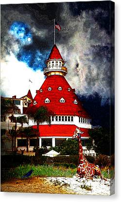 It Happened One Night At The Old Del Coronado 5d24270 Stylized Canvas Print