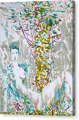 It Hurts When I Turn My Head Canvas Print by Fabrizio Cassetta