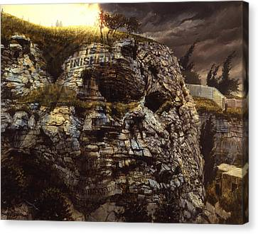 It Is Finished Calvary Jerusalem Canvas Print by Graham Braddock