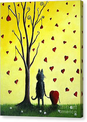 It Must Be Love By Shawna Erback Canvas Print by Shawna Erback