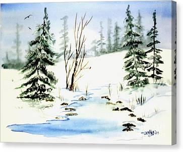It Snowed Canvas Print by Don Hand