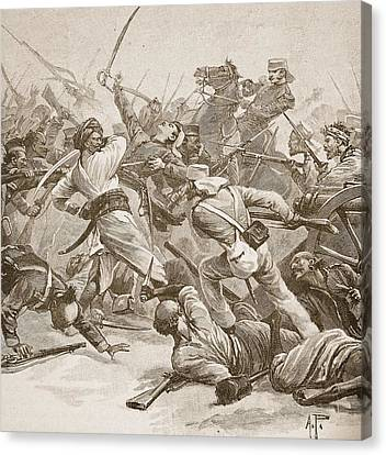 It Was Bayonet To Bayonet, Illustration Canvas Print by Alfred Pearse