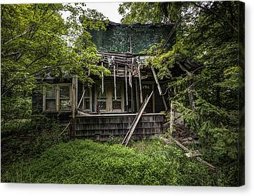 Abandoned House Canvas Print - It Was Once Christmas Here by Gary Heller