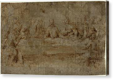 Italian 16th Century, The Last Supper, Mid 16th Century Canvas Print by Litz Collection