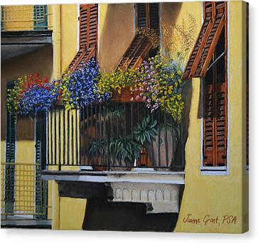 Italian Balcony Canvas Print