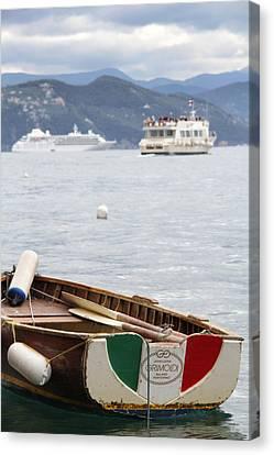 Italian Boats Canvas Print by Nancy Ingersoll
