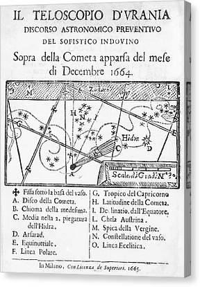 Italian Book On The Comet Of 1664-5 Canvas Print by Royal Astronomical Society