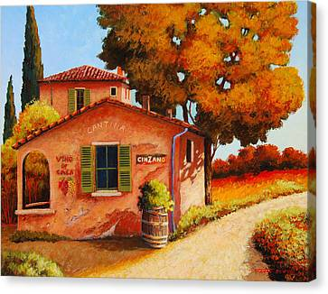 Italian Cantina Canvas Print