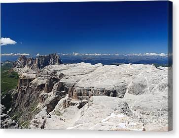Canvas Print featuring the photograph Italian Dolomites - Sella Group by Antonio Scarpi