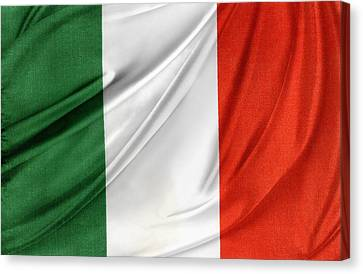 Italian Flag  Canvas Print by Les Cunliffe