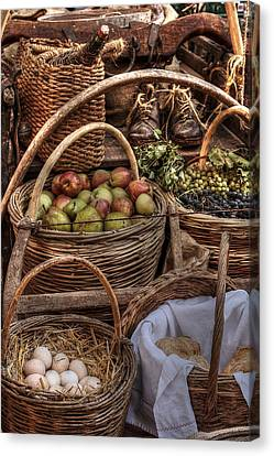 Italian Food Cart Canvas Print