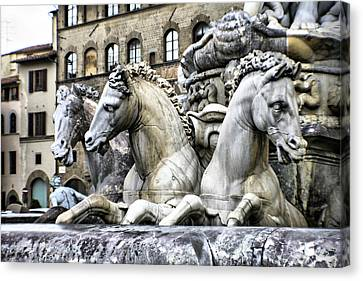 Italian Fountain Canvas Print by Greg Sharpe