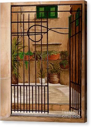 Italian Iron Gate Canvas Print