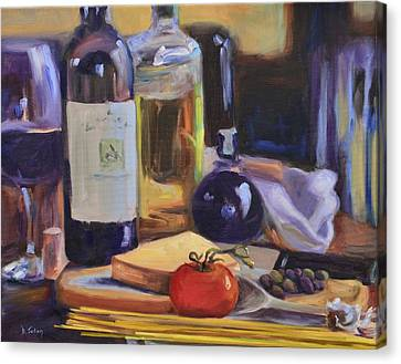 Italian Kitchen Canvas Print by Donna Tuten