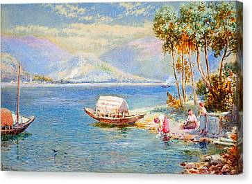 Italian Lake Canvas Print by Celestial Images