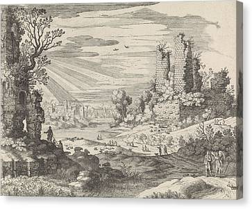 Italian Landscape With Tobias And The Angel Canvas Print