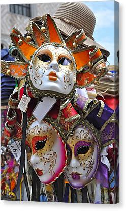 Italian Masks Canvas Print by Teresa Tilley