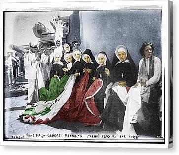 Italian Nuns Canvas Print by Tony Rubino