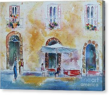 Italian Piazza Canvas Print by Carolyn Jarvis