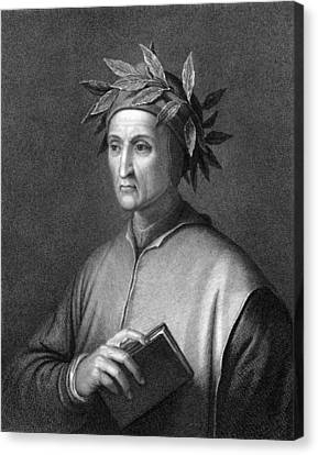 Italian Poet Dante Alighieri Canvas Print by Underwood Archives