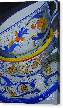 Italian Pottery Canvas Print by Brigid Glynn-Young