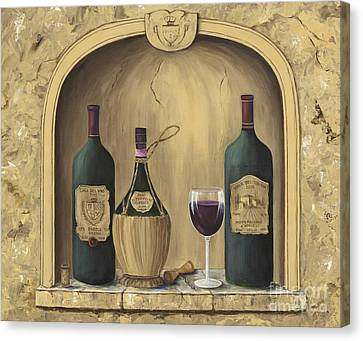 Glass Of Wine Canvas Print - Italian Reds by Marilyn Dunlap