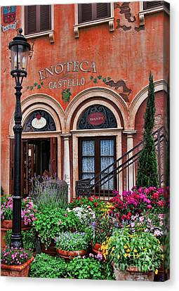 Italian Restaurant Canvas Print