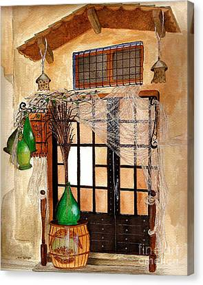Canvas Print featuring the painting Italian Restaurant  by Nan Wright