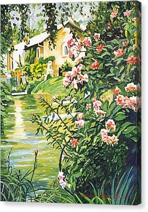 Italian River Canvas Print by David Lloyd Glover