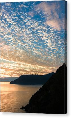 Canvas Print featuring the photograph Italian Riviera Sunset - II by Carl Amoth