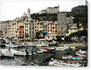 Italian Seaside Village Canvas Print by Jim  Calarese
