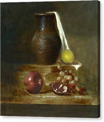 Italian Still Life Canvas Print by Cecilia Brendel