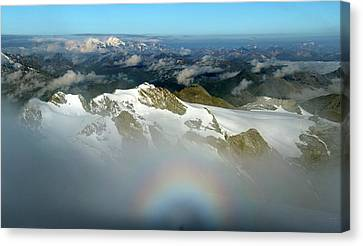 Italian-swiss Alps Canvas Print by Martin Rietze