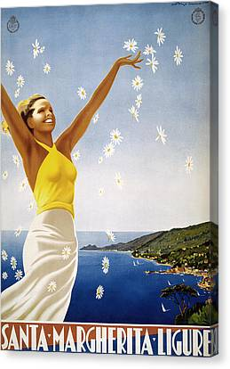 Italian Travel Poster, 1951 Canvas Print by Granger