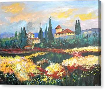 Italian Villa  Canvas Print by Anna Sandhu Ray