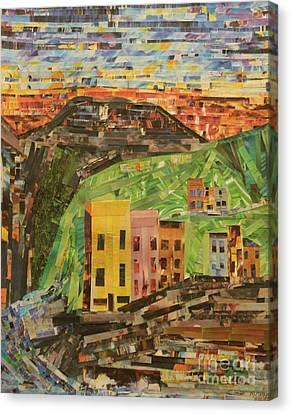 Italian Landscape Canvas Print - Italian Village by Mary Chris Hines