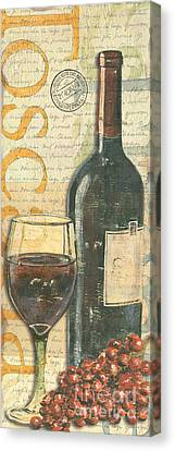 Vintage Canvas Print - Italian Wine And Grapes by Debbie DeWitt