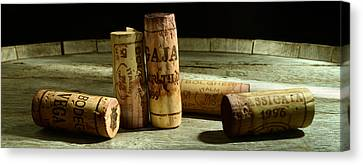 Italian Wine Corks Canvas Print by Jon Neidert