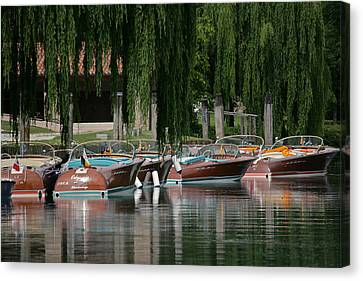 Riva Wooden Runabouts Canvas Print by Steven Lapkin