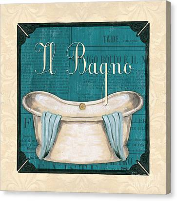 Toilet Canvas Print - Italianate Bath by Debbie DeWitt