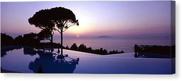 Italy, Campania, Capri, Anacapri, Hotel Canvas Print by Tips Images
