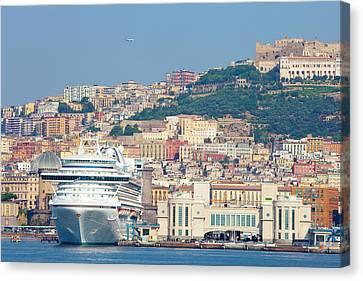 Italy, Campania, Napels - Port Canvas Print