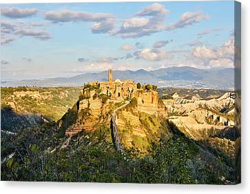 Italy, Civita, A View Of The City Canvas Print