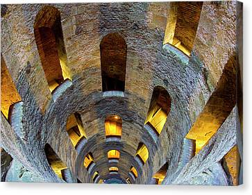 Italy, Orvieto St Patrick's Well Credit Canvas Print