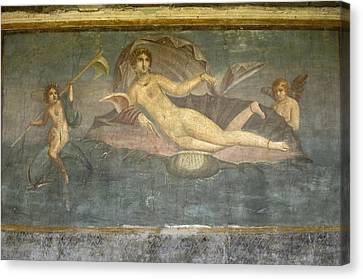 Italy. Pompeii. Frescoes In The House Canvas Print by Everett