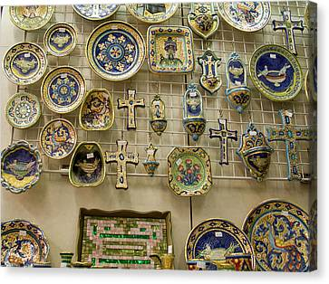 Italy, Ravenna A Wall Of Mosaic Canvas Print by Jaynes Gallery