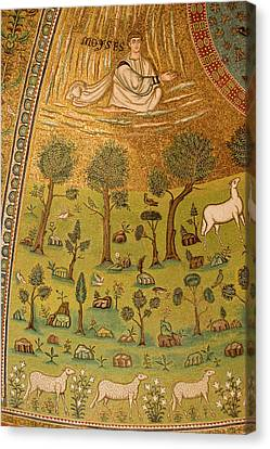 Italy, Ravenna Mosaic Depicting Moses Canvas Print by Jaynes Gallery